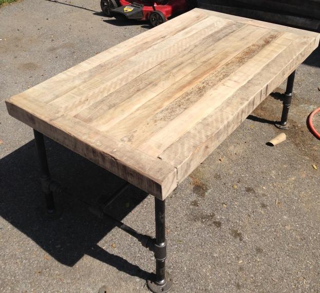 sanded barn wood table for reclaimed table ideas