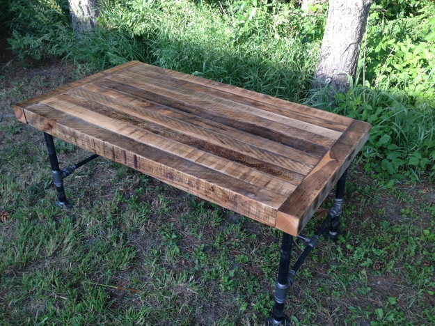 rustic table, restoration hardware