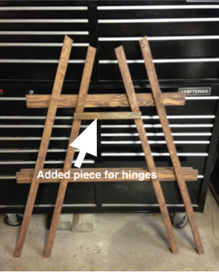 DIY easel modification from ana white