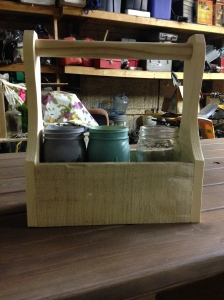 hand built mason jar basket